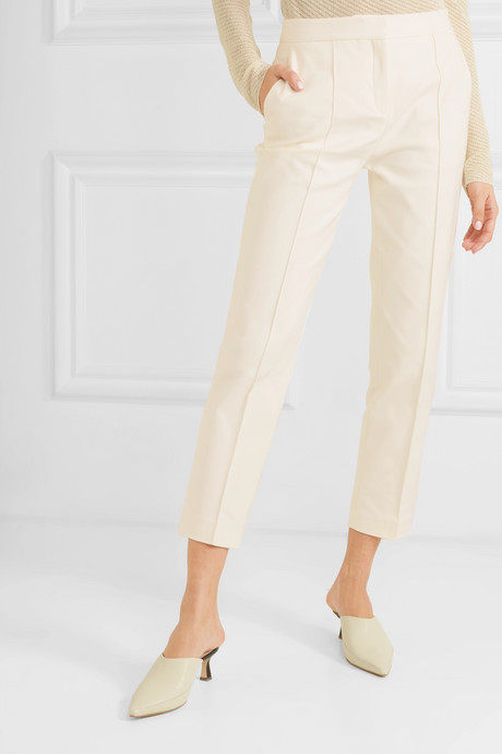 Santsi cotton-blend cady tapered pants