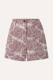 Danise printed cotton-poplin shorts