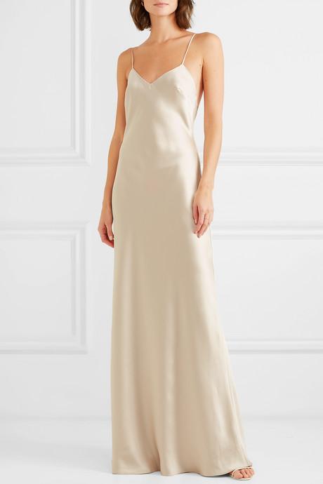 Freida satin gown