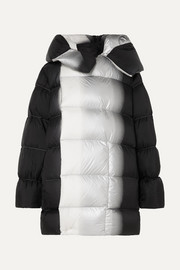Sisy oversized dégradé quilted shell down coat