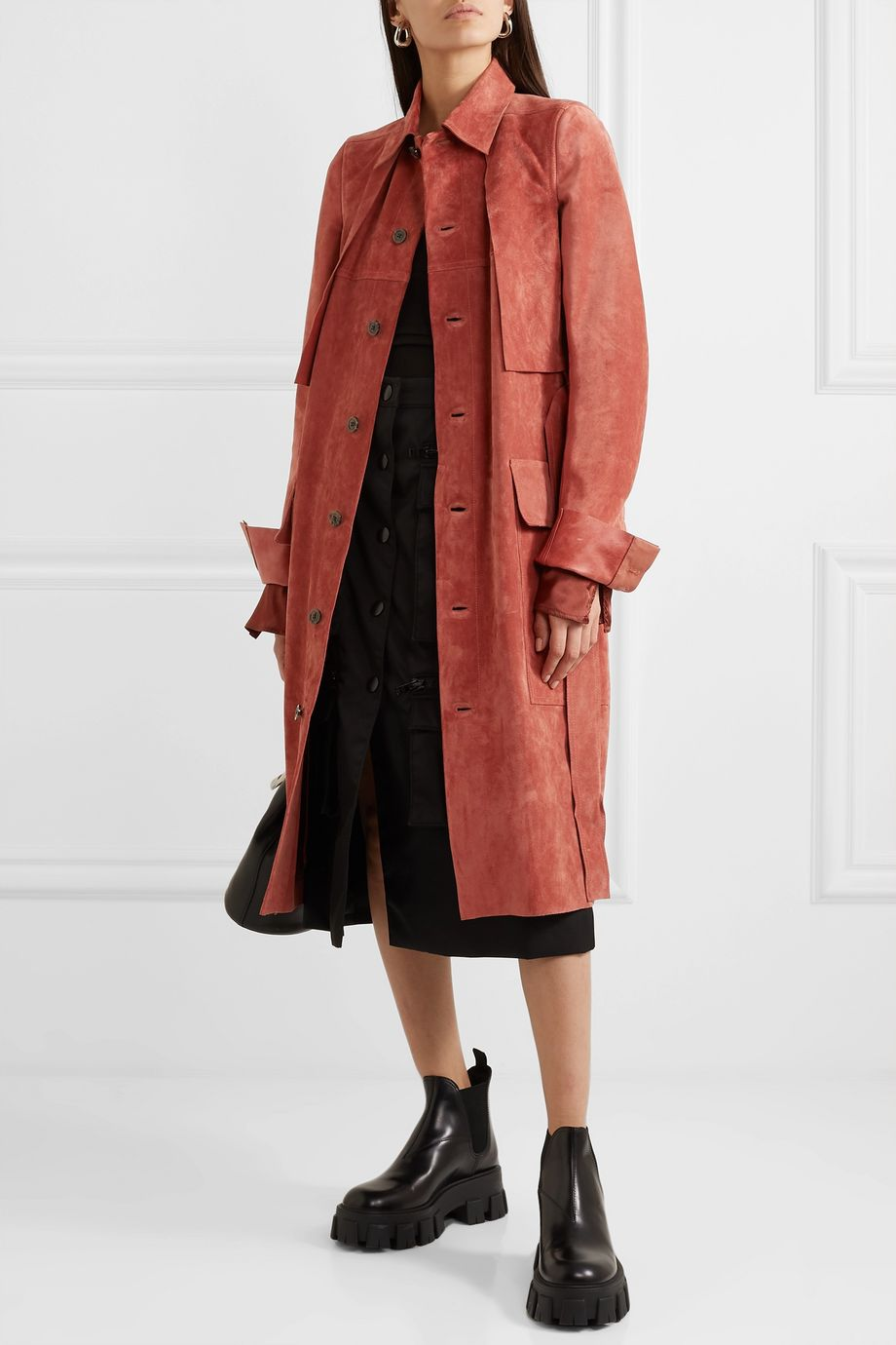 Rick Owens Trench-coat en daim Forked