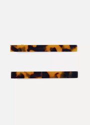 Valet Sophie set of two tortoiseshell resin hair clips