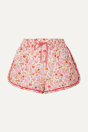 Zimmermann Goldie floral-print linen and cotton-blend shorts