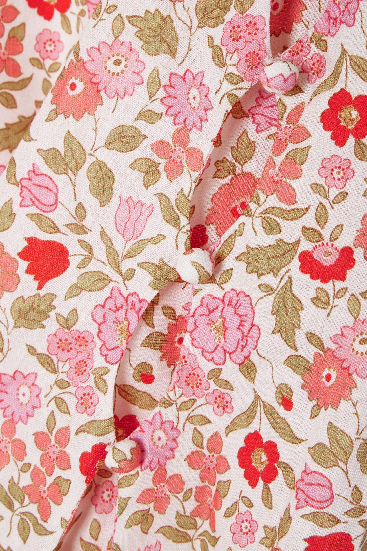 Zimmermann Goldie cutout floral-print linen and cotton-blend mini dress
