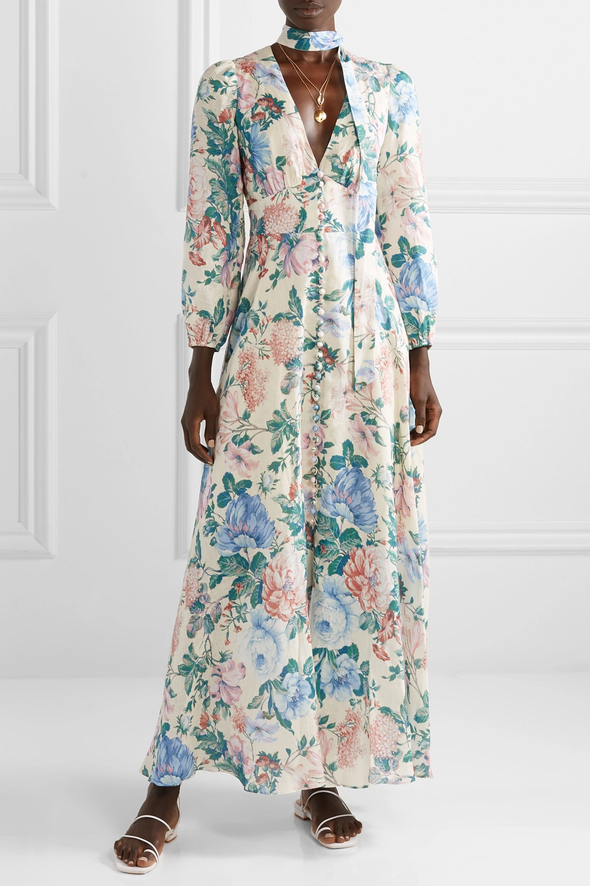 Zimmermann Verity floral-print linen maxi dress