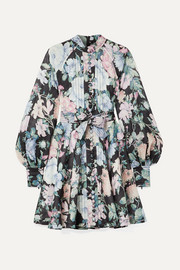Zimmermann Verity Roulou belted floral-print linen dress