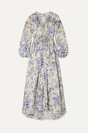 Zimmermann Verity floral-print silk-satin maxi dress