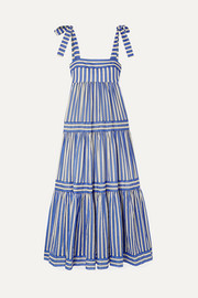Zimmermann Verity tiered striped cotton-voile maxi dress