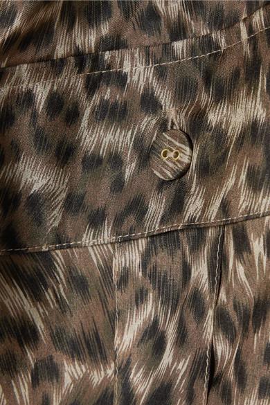5c7ae7e152fd2e Zimmermann. Suraya gathered leopard-print silk-charmeuse blouse. $590. Play
