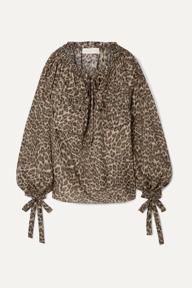 04ad29dd903c1c Zimmermann   Suraya gathered leopard-print silk-charmeuse blouse    NET-A-PORTER.COM