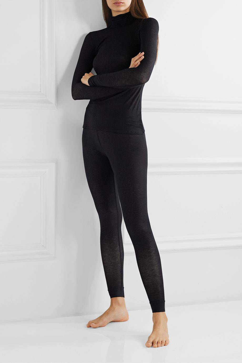 Commando Stretch-modal and cashmere-blend leggings