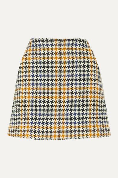 Houndstooth Wool Blend Mini Skirt by Mc Q Alexander Mc Queen