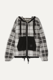 McQ Alexander McQueen Shell-paneled checked cotton-blend hoodie