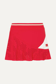 Perforated stretch tennis skirt