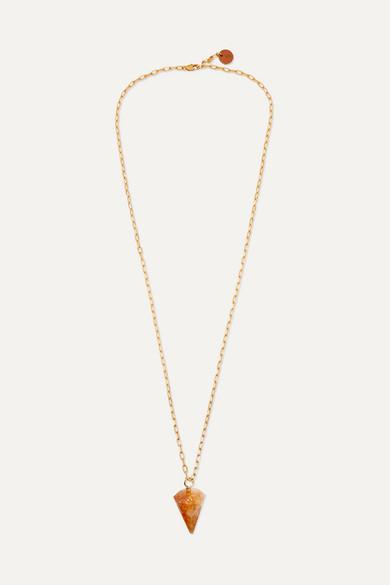 SIRCONSTANCE | Sirconstance - Gold-Plated Citrine Necklace - Orange | Goxip