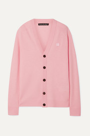 Acne Studios Neve Face appliquéd wool cardigan
