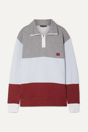 Acne Studios Flint Face appliquéd color-block cotton-jersey sweatshirt