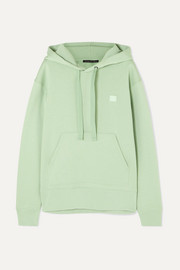 Acne Studios Ferris Face appliquéd cotton-jersey hoodie
