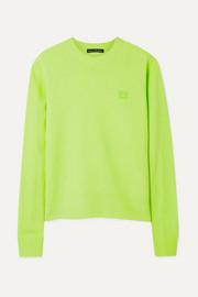아크네 스튜디오 Acne Studios Nalon Face appliqued neon wool sweater