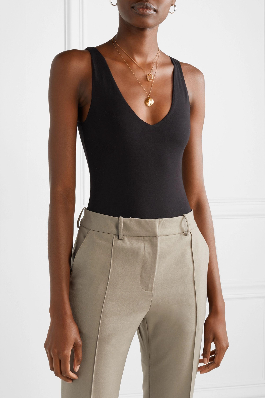 Skin Selene stretch-organic Pima cotton bodysuit