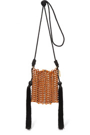 Luisella tassled gold-tone, cord and resin shoulder bag
