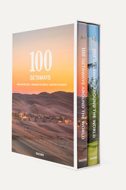 Set of two hardcover books: 100 Getaways Around the World