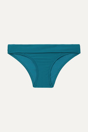 Heidi Klein Ribbed fold-over bikini briefs