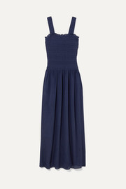 Heidi Klein Smocked silk-crepe maxi dress