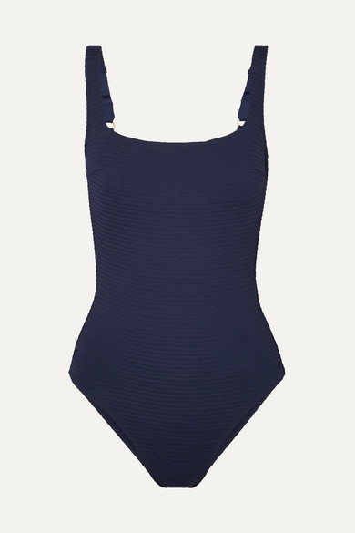 573b9d1a53e Carlisle Bay lace-up ribbed swimsuit