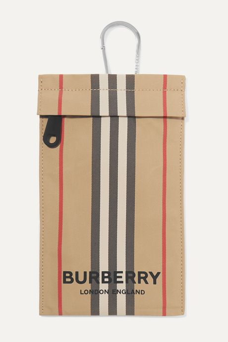 Beige Checked canvas pouch  | Burberry x9e9ly
