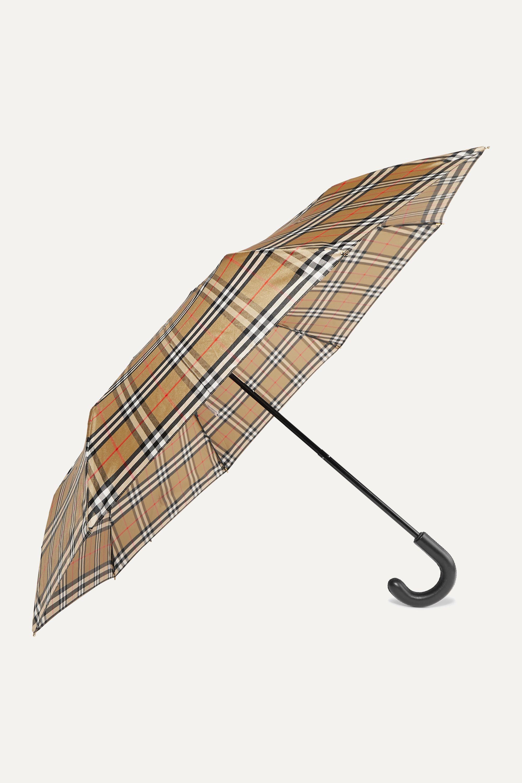 Burberry Trafalgar Regenschirm aus kariertem Shell