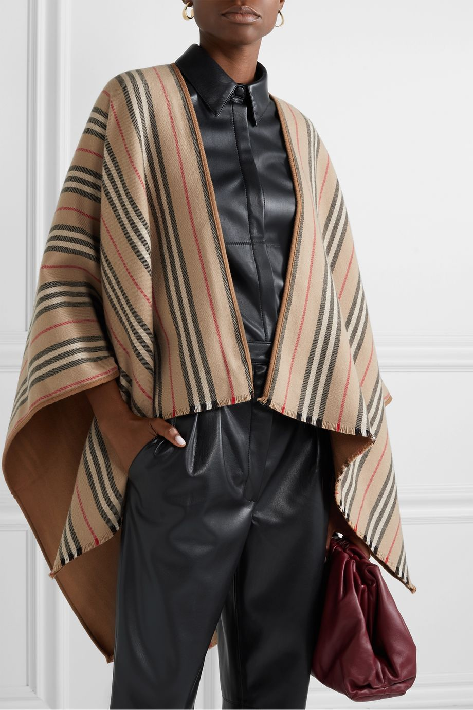 Burberry Reversible striped wool wrap