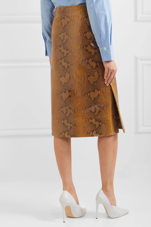 Marni Snake-effect leather skirt