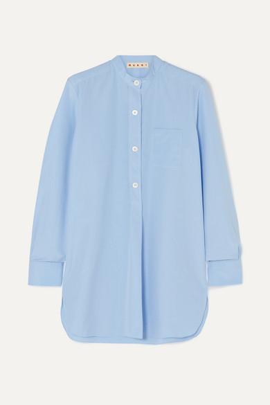 MARNI | Marni - Cotton-Poplin Shirt - Light Blue | Goxip