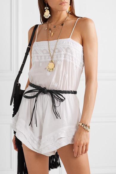 Isabel Marant Belts Darla braided leather waist belt