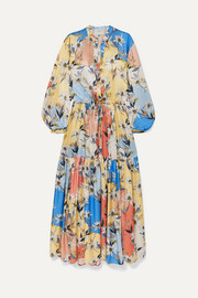 MUNTHE Daisy floral-print satin maxi dress