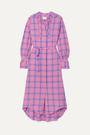 MUNTHE Donkey checked brushed-cotton dress