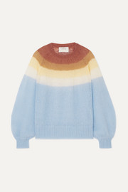 MUNTHE Dinner striped knitted sweater