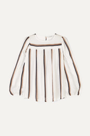 MUNTHE Dusty striped voile top