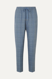 Diablo checked woven tapered pants