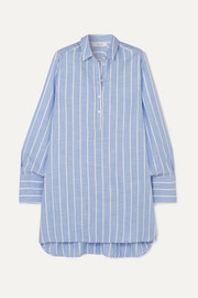 MUNTHE Destiny striped gauze tunic