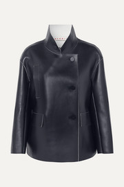 Marni Double-breasted leather jacket