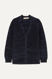 Marni Oversized ribbed mélange wool cardigan