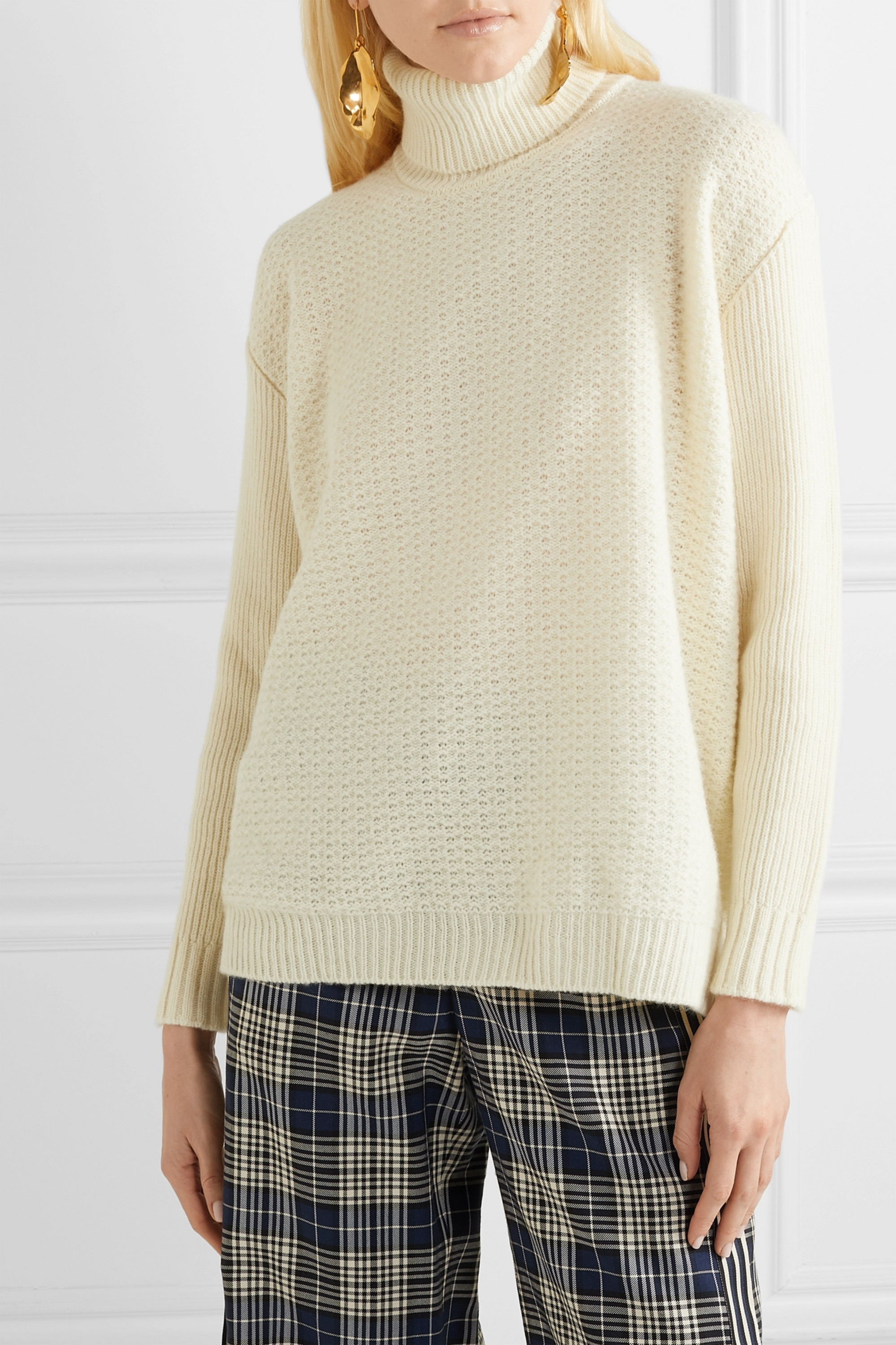 Marni Wool and cashmere-blend turtleneck sweater