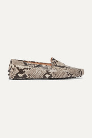 Tod's Gommino snake-effect leather loafers