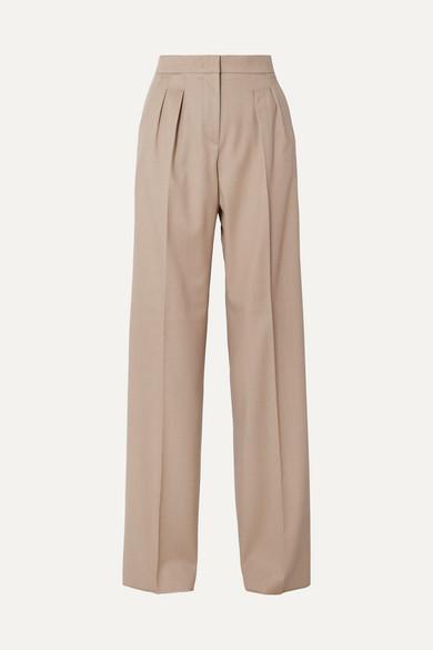 Kenia Wool Twill Wide Leg Pants by Max Mara