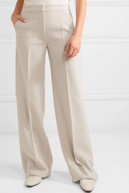Max Mara Wool-blend crepe wide-leg pants
