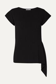 막스마라 Max Mara Ugolina draped asymmetric ribbed-knit top