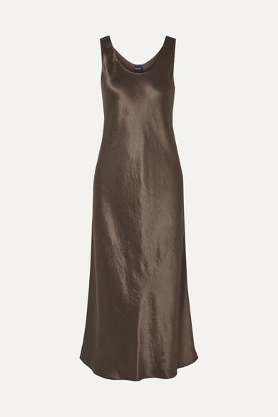 Max Mara Dresses Leisure Talete hammered-satin midi dress