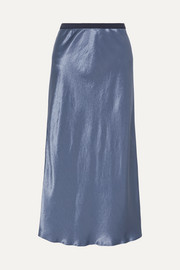 Leisure Alessio hammered-satin midi skirt